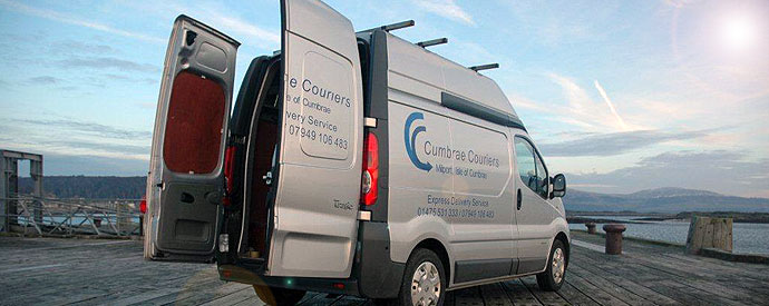 Combrae Couriers Delivery Van